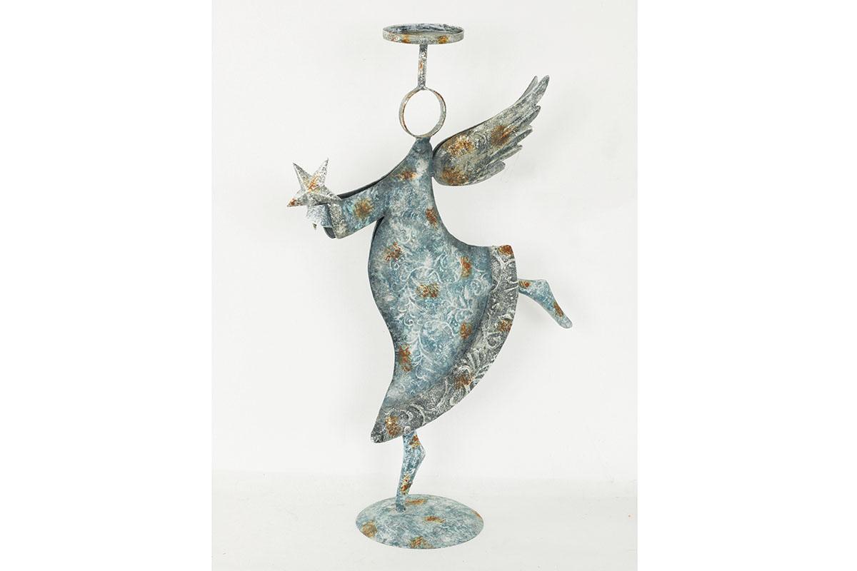 Anjel, kovová dekorácia