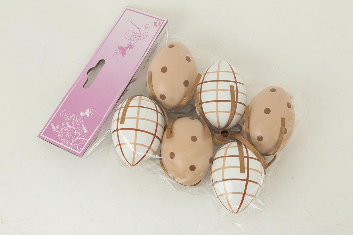 Vajíčko plastové, dekorační na zavěšení