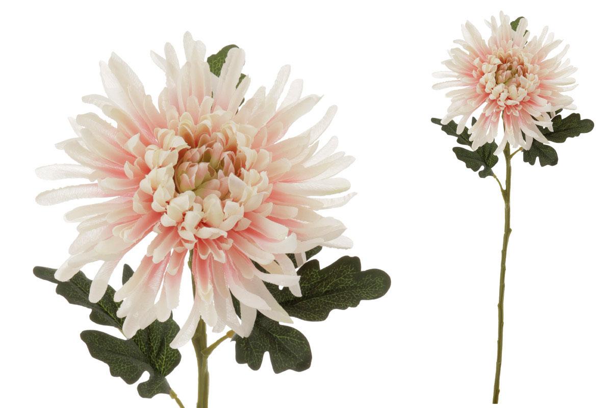 Chryzantéma , umělá květina,  barva lososovo-smetanová