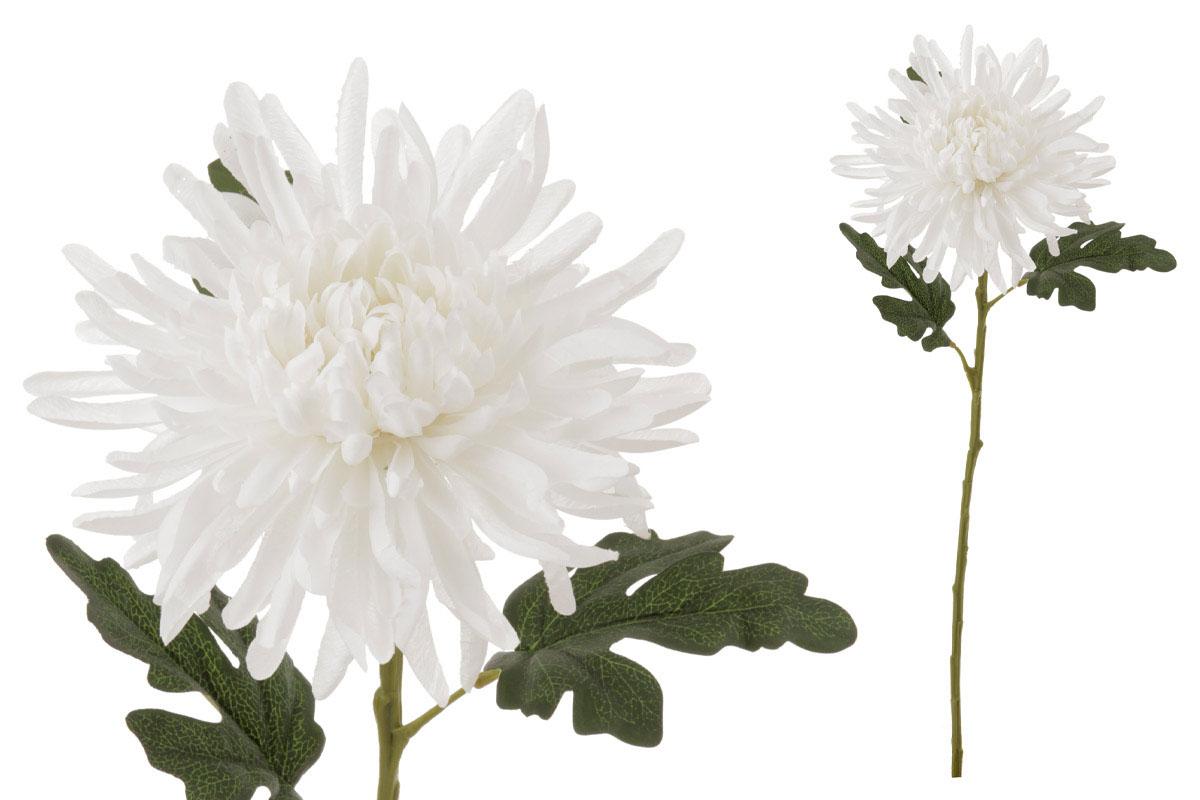 Chryzantéma , umělá květina, barva smetanová