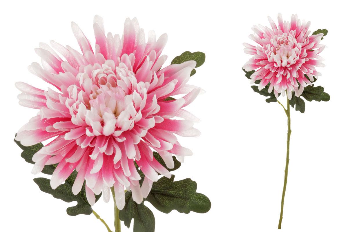 Chryzantéma , umělá květina, barva růžovo-smetanová