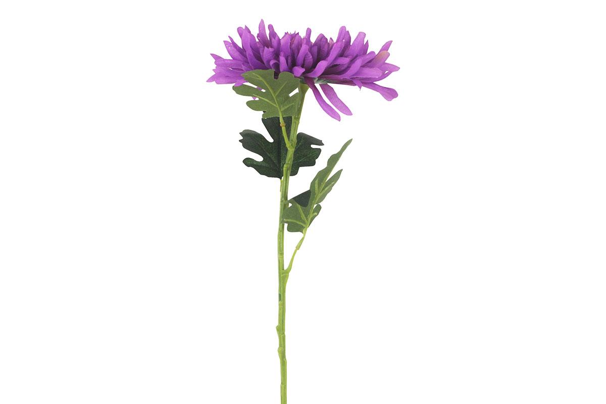 Chryzantéma , umělá květina, barva tmavě fialová