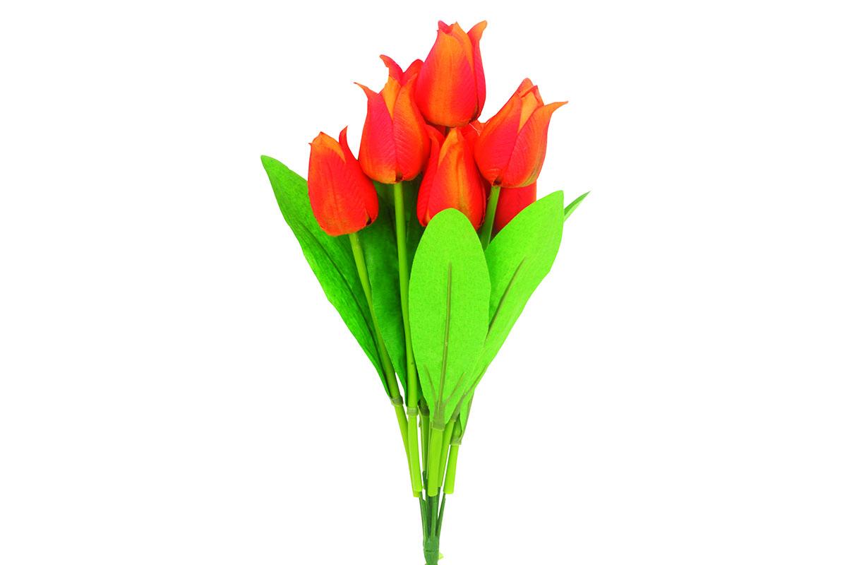 Puget tulipánů, umělá květina, barva oranžová