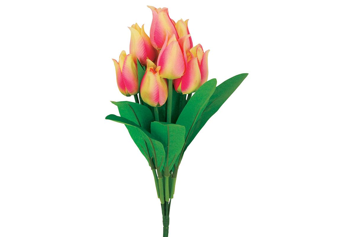 Puget tulipánů, umělá květina, barva růžová