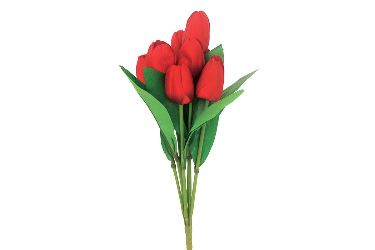 Puget tulipánů, umělá květina, barva červená