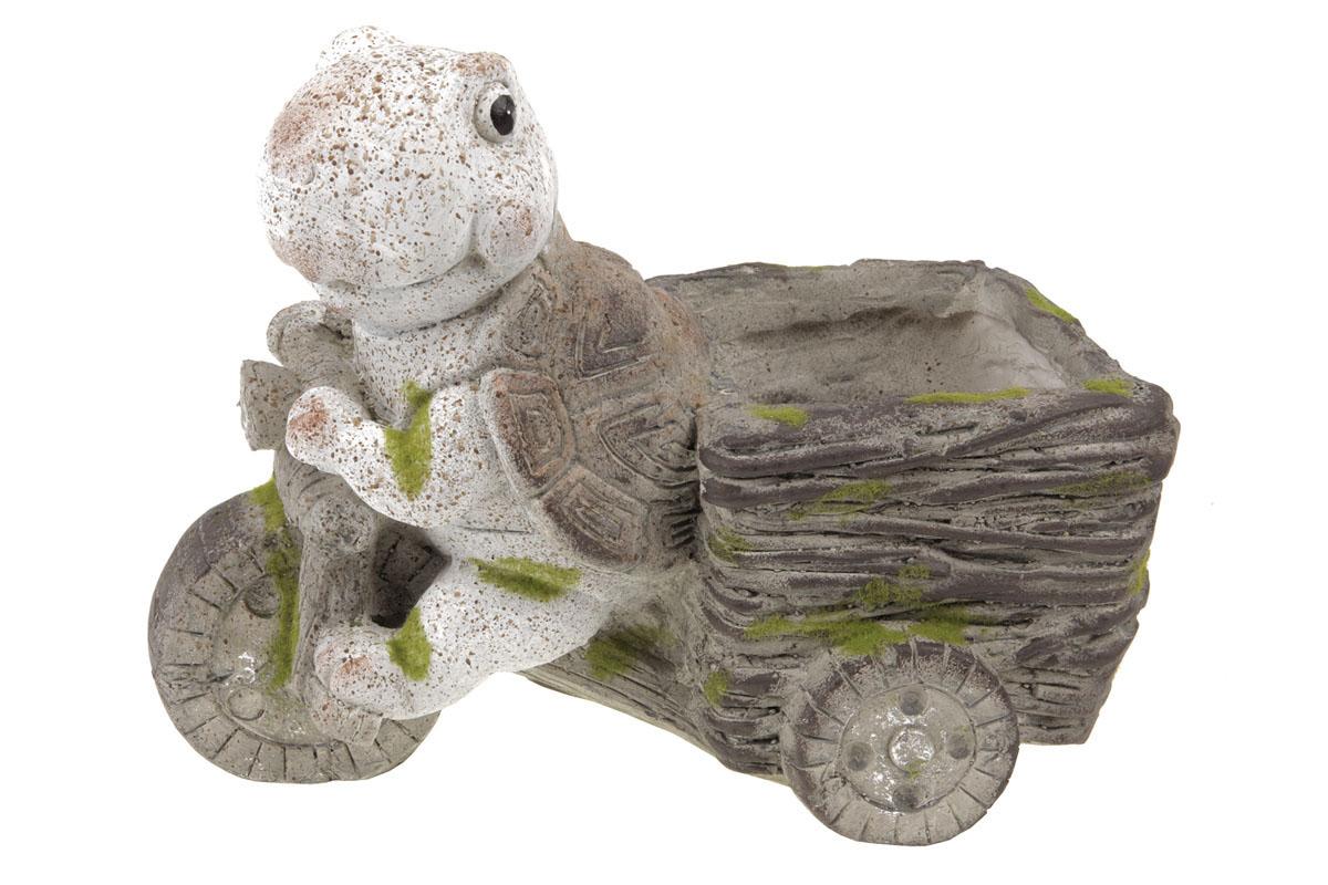 Želvička,dekorace z MgO keramiky s otvorem na květináč