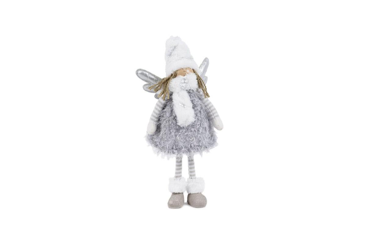 Anjelka, textilná dekorácia, farba šedá