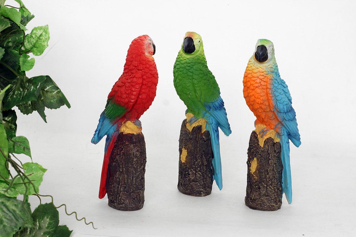 Papagáj, polyresinová dekorácia, cena za 1 kus