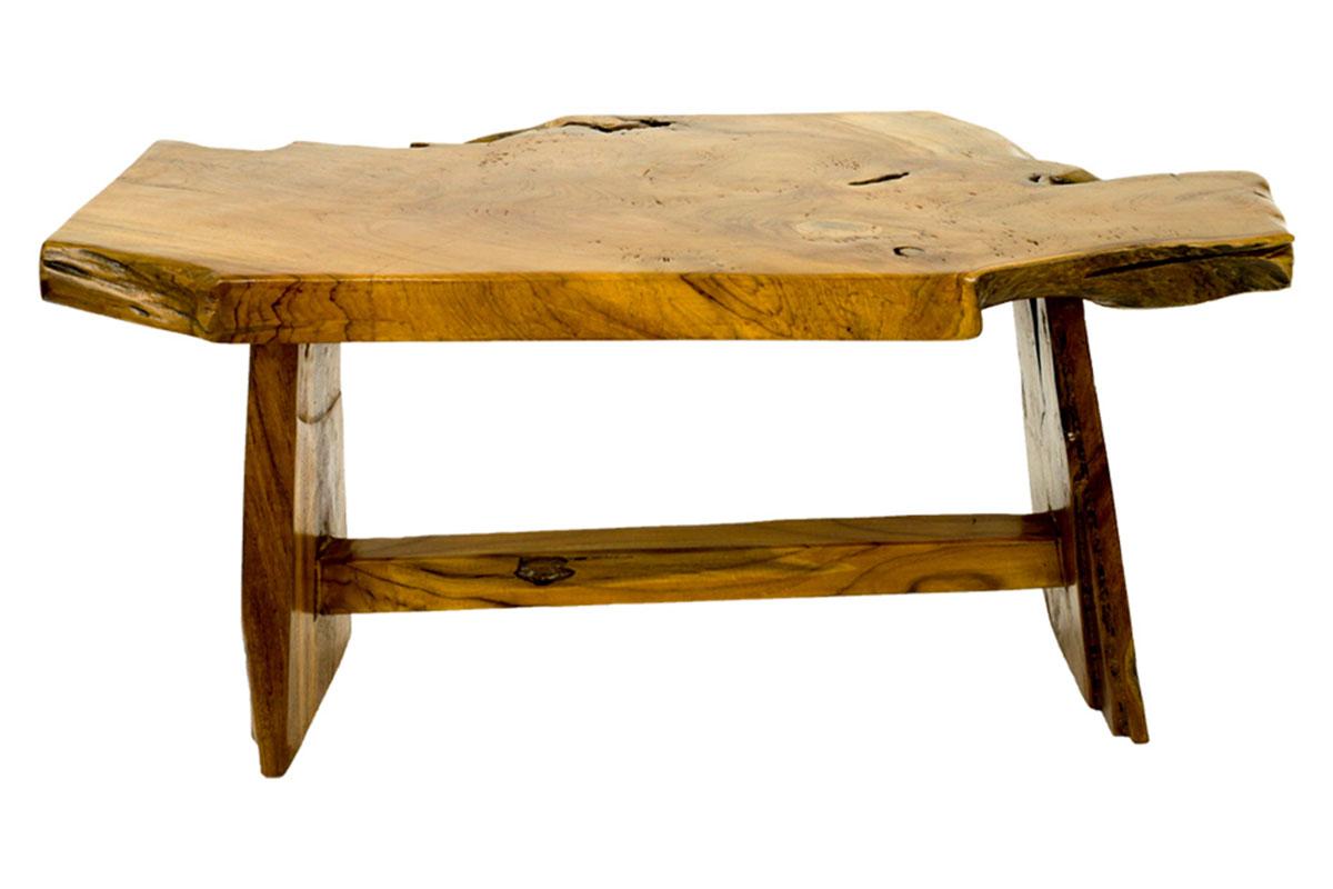 Lavice, dřevořezba z teakového dřeva
