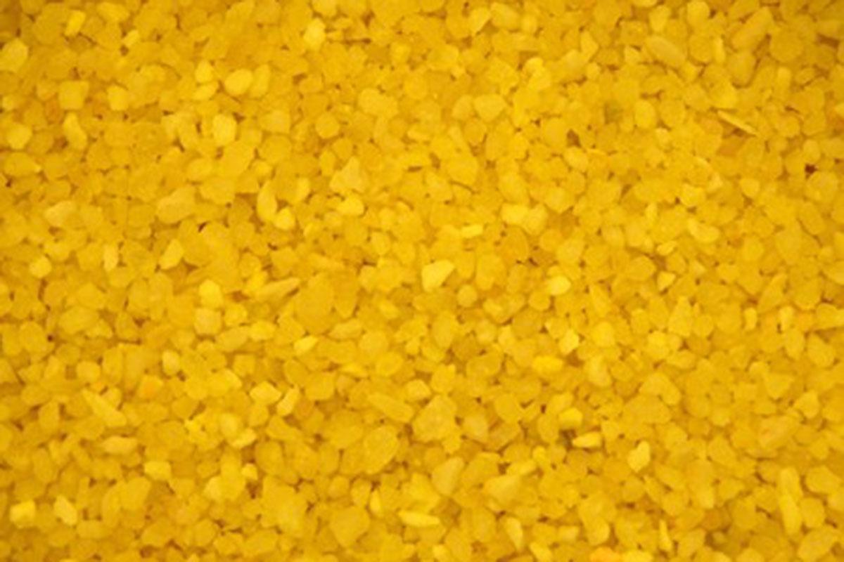 DEKORAČNÝ PIESOK, najmenšia veľkosť, žltá farba