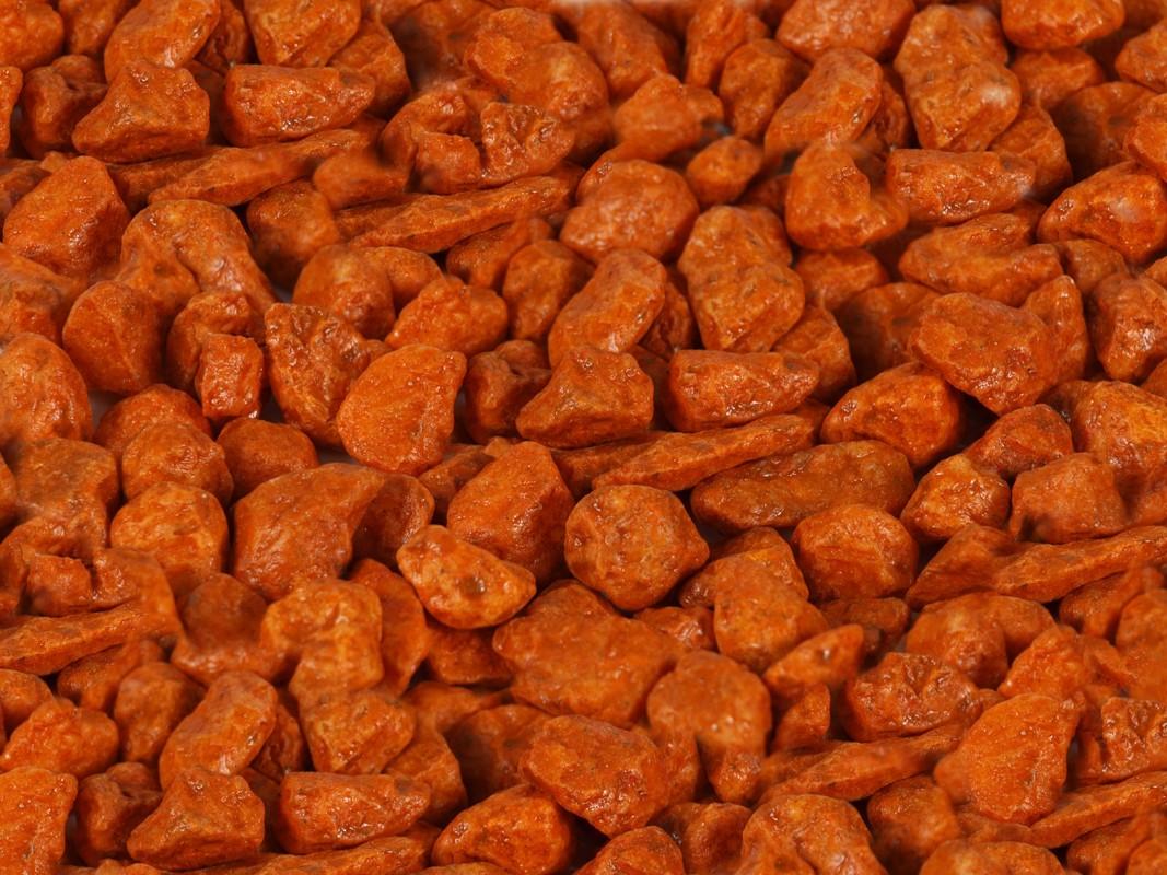 Dekoračný piesok, najväčšia veľkosť, oranžová farba