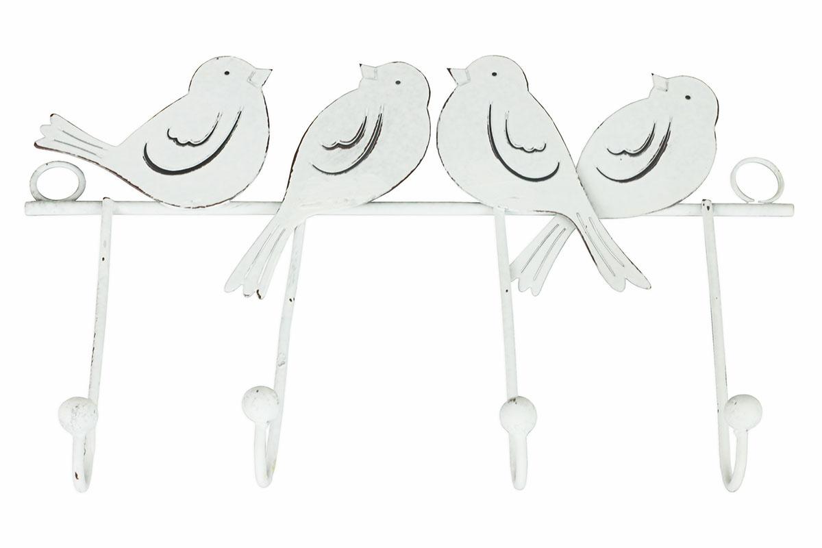 Vešák s ptáčky, dekorace z kovu