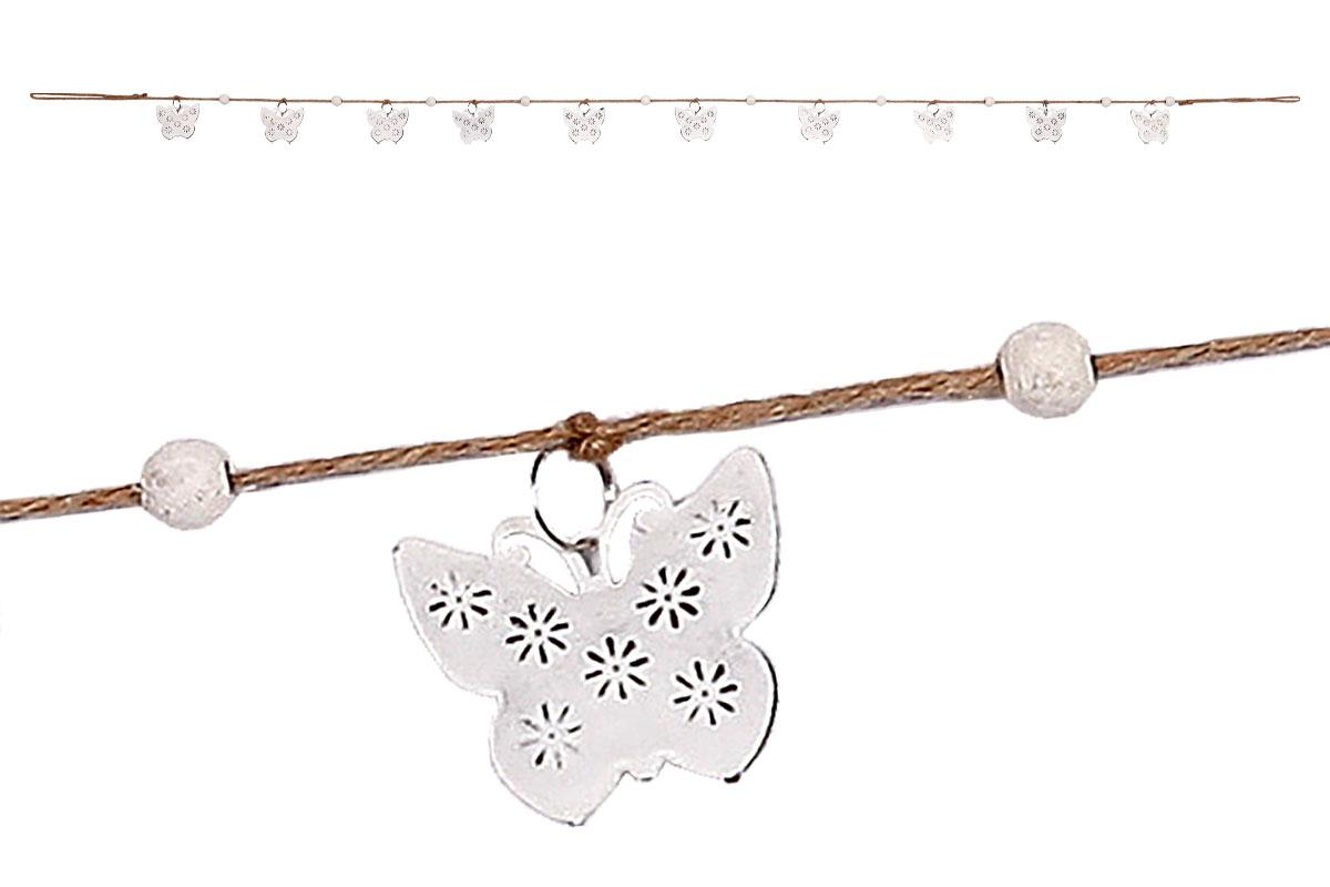 Girlanda, 10 motýlků,  dekorace z kovu