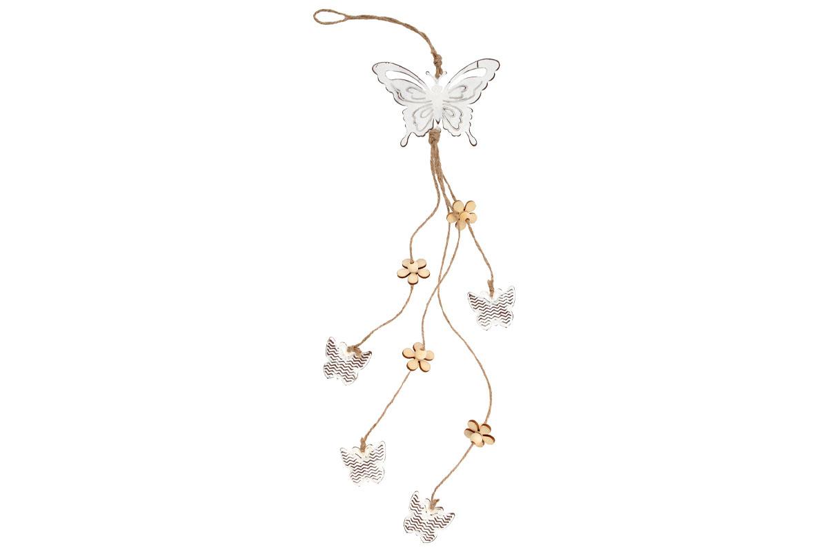 Motýľ, kovová dekorácia na zavesenie