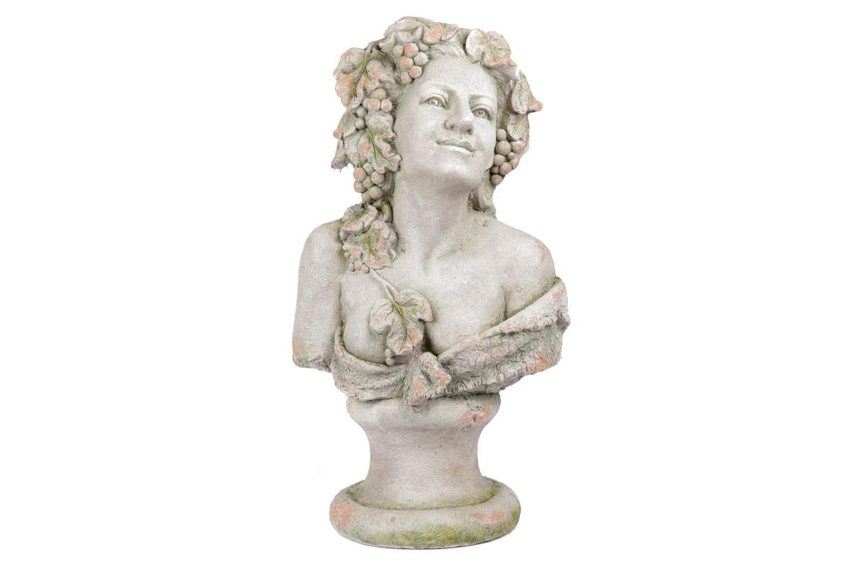Bysta ženy, dekorace z MgO keramiky s otvorem na květináč