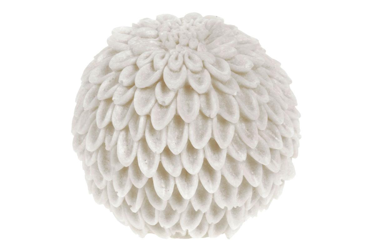 Lampa interiérová z polyresinu s LED světlem na baterie, tvar koule