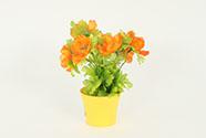 Anemonie umělá v obalu - oranžová květina