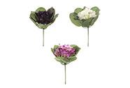 Fialky,puget, mix 3 barev (fialová,bílá,růžová). Květina umělá.