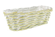 Truhlík aranžérský, proutěný s igelitem, barva zelená