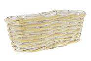 Truhlík aranžérský, proutěný s igelitem, barva žlutá