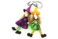 Čarodejnice, textilní dekorace, mix 2 druhů, cena za 1 kus