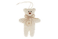 Medvídek, látková dekorace na pověšení
