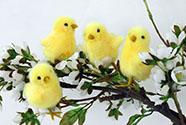 Kuřátko, plyšová dekorace