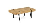 Konferenční stolek 110x60x42, MDF divoký dub, kov černá matná