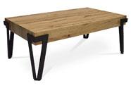 Konferenční stolek, 112x62x43 cm, deska MDF, dekor divoký dub, kov - černý mat
