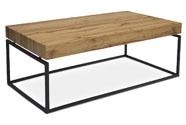 Konferenční stolek, 110x60x43 cm, deska MDF, dekor divoký dub, kov - černý mat
