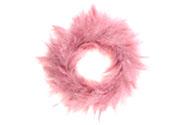 Věneček, dekorace z peří, barva růžová