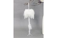 Andělská křídla z peří, barva bílá, baleno 12 ks v polybag. Cena za 1 ks.