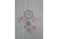 Lapač snů z peří- barva růžová