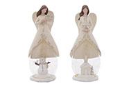 Anděl, vánoční dekorace z polyresin, mix 2druhů, cena za 1 kus