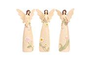 Anděl květinový, mix 3 druhů, barva krémová.