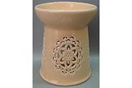 Aroma lampa s motivem mandaly, meruňková barva, porcelán.