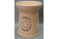 Aroma lampa s motivem sedmikrásky, meruňková barva, porcelán.