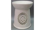 Aroma lampa s motivem sedmikrásky, bílá barva, porcelán.