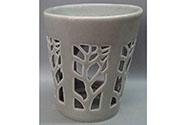 Aroma lampa, motiv strom života, šedivá barva, porcelán.