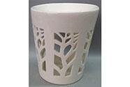 Aroma lampa, motiv strom života, bílá barva, porcelán.