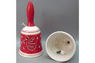 Zvonek, vánoční motiv andělů, porcelán.
