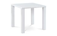 Jídelní stůl 80x80x76 cm, vysoký lesk bílý