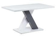 Jídelní stůl 140x80, bílá MDF vysoký lesk