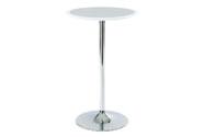 Barový stůl bílo-stříbrný plast, pr. 60 cm
