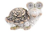Želva s LED světlem (baterie na solární dobíjení), dekorace z MgO keramiky