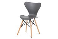 Jídelní židle šedý plast / natural
