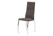 Jídelní židle, lanýžová látka, kov chrom