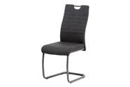 Jídelní židle, šedá látka, kov matná antracit