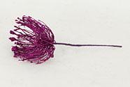 Vánoční plastová větev - barva fialová.