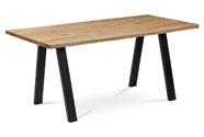 Jídelní stůl 160x90x75 cm, masiv dub, povrchová úprava olejem, kovová podnož, če